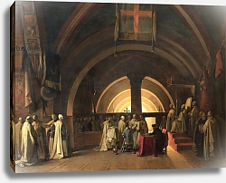 Постер Гране Франсуа The Inauguration of Jacques de Molay into the Order of Knights Templar in 1295