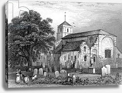 Постер Шампьон Джордж (грав) Waltham Abbey Church, Essex, engraved by John Rogers, 1831