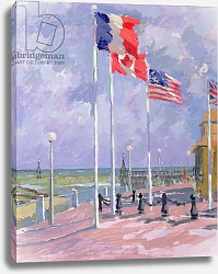 Постер Баттерфилд Сара (совр) Flags at Courseulles, Normandy