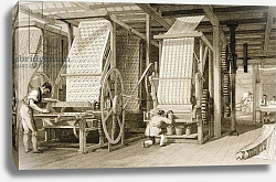 Постер Аллом Томас (грав) Calico printing in a cotton mill, engraved by James Carter c.1830