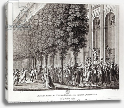 Постер Преюр Жан Camille Desmoulins Speaking at the Palais Royal, 12 July 1789, engraved by Pierre Gabriel Berthault