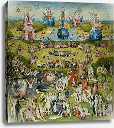 Постер Босх Иероним The Garden of Earthly Delights: Allegory of Luxury, central panel of triptych, c.1500