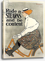 Постер Ride a Stearns and be Content, c.1896