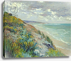 Постер Кайботт Гюстав (Gustave Caillebotte) Cliffs by the sea at Trouville