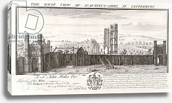 Постер Бак Натаниель (грав) The West View of St. Austin's Abbey, in Canterbury, 1735