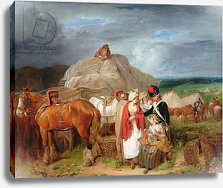 Постер Уитли Франсис Soldier with Country Women Selling Ribbons near a Military Camp, 1788