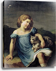 Постер Жерико Теодор Portrait of Louise Vernet as a Child, 1818-19