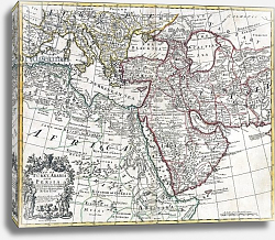 Постер Школа: Английская 18в. Map of Turkey, Arabia and Persia, after Guillaume de L'Isle, 1721
