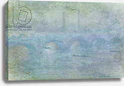 Постер Моне Клод (Claude Monet) Waterloo Bridge: Effect of the Mist, 1903