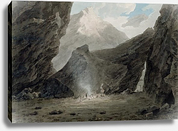Постер Козенс Джон (акв) Near Chiavenna in the Grisons, c.1779