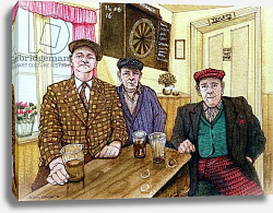 Постер Лоусон Джиллиан (совр) Three Men in a Pub, 1984