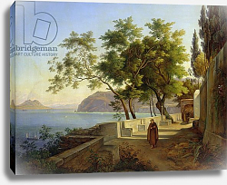 Постер Фабер Иохим The Terrace of the Capucins in Sorrento, 1828