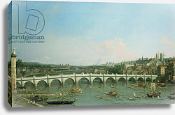 Постер Каналетто (Giovanni Antonio Canal) Westminster Bridge from the North with Lambeth Palace in distance