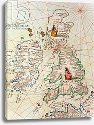 Постер Агнес Батиста (карты) The Kingdoms of England and Scotland, Venice, 1st September 1553