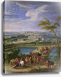 Постер Мартин Жан-Батист The Town and Chateau of Versailles from the Butte de Montboron, 1688