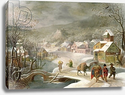 Постер Альслот Денис A Winter Landscape with Travellers on a Path