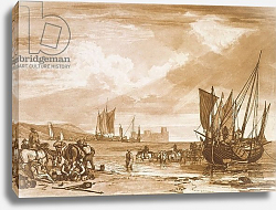 Постер Тернер Вильям (последователи) F.4.I Scene on the French Coast, from the 'Liber Studiorum', engraved by Charles Turner, 1807
