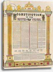 Постер Школа: Америка (18 в) The Constitution of the United States of America