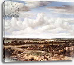 Постер Конинк Филипс An Extensive Landscape with a Road by a River, 1655