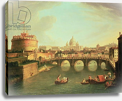 Постер Виттель Гаспар A View of Rome with the Bridge and Castel St. Angelo by the Tiber