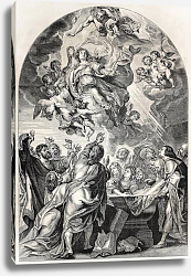 Постер Reproduction of the Assumption of Mary, by Rubens. Engraved by Jourdain, published on L'Illustration