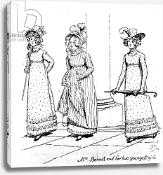 Постер Томсон Хью (грав) 'Mrs. Bennet and her two youngest girls', illustration from 'Pride & Prejudice'