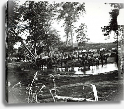 Постер Американский фотограф Federal battery fording a tributary of the river Rappahannock on battle day
