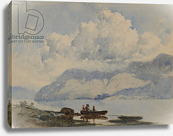 Постер Блэклок Уильям Lake with Boat and Figures, 1840-58