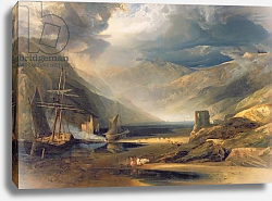 Постер Филдинг Энтони A Storm Passing Off on the Coast of Merionethshire, 1818
