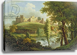 Постер Скотт Самуэль Ludlow Castle with Dinham Weir, from the South-West, c.1765-69