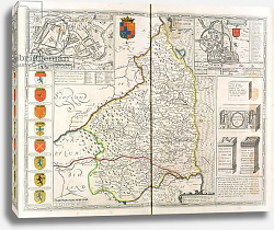 Постер Спид Джон Map of Northumberland, from 'The Theatre of the Empire of Great Britaine', 1611-12