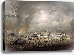 Постер Уиллис Ричард 'The Tanks Go In', Sword Beach