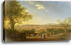 Постер Пэтч Томас A Panoramic View of Florence from Bellosguardo, 1775