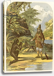 Постер Лидон Александр Robinson Crusoe rescuing Friday from the savages