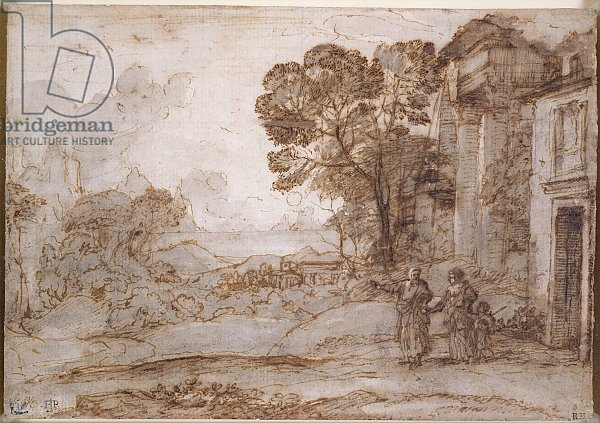 Landscape with Abraham Expelling Hagar and Ishmael, c.1665-67