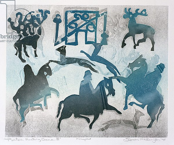Постер Уоллингтон Глория (совр) Pictish Hunting Scene III, 1995