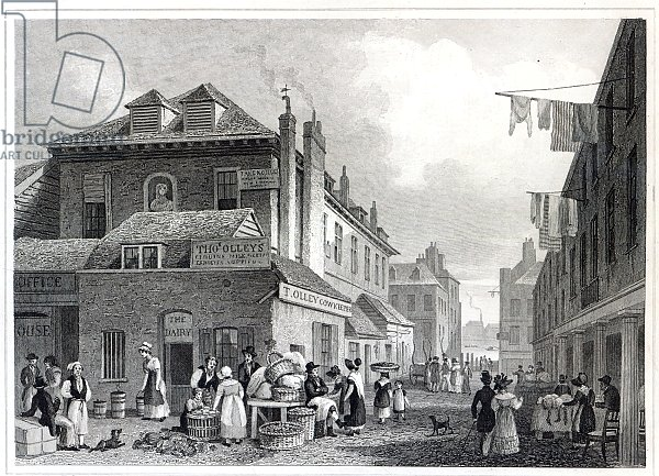 Hungerford Market, Strand, engraved by Thomas Barber, 1830