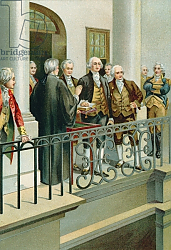 Постер Школа: Северная Америка (19 в) George Washington taking the oath as President