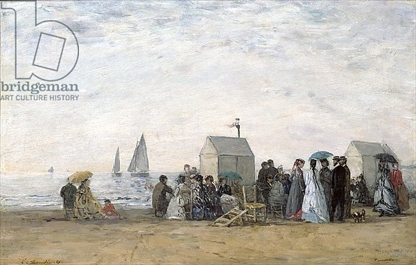 The Beach at Trouville, 1867