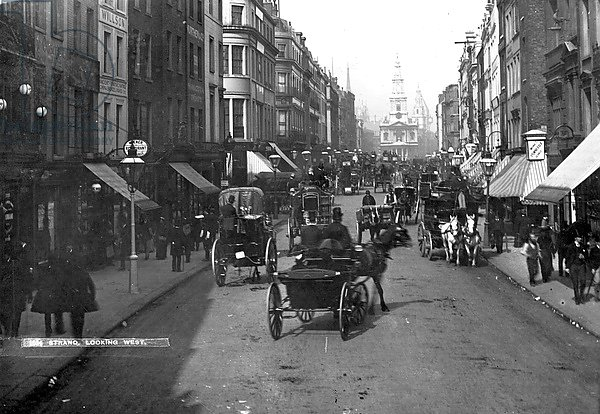 Looking West down the Strand, 19th Century 2