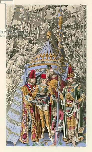 Pyrrhus Receiving the Honor of Knighthood, early 15th century