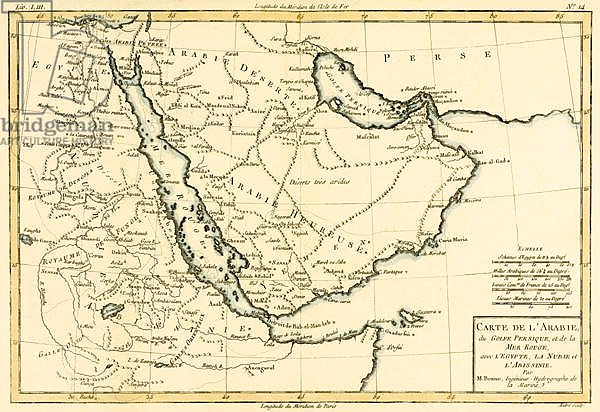 Arabia, the Persian Gulf and the Red Sea, with Egypt, Nubia and Abyssinia, 1780