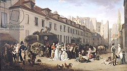 Постер Бойли Луи The Arrival of a Stagecoach at the Terminus, rue Notre-Dame-des-Victoires, Paris, 1803