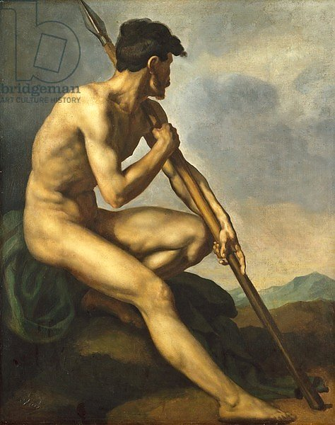 Nude Warrior with a Spear, c.1816