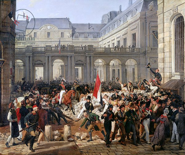 The Duke of Orleans Leaves the Palais-Royal and Goes to the Hotel de Ville on 31st July 1830, 1832