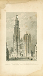 Постер West Front, Antwerp Cathedral