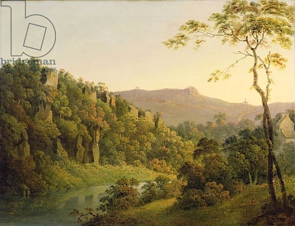 View in Matlock Dale, Looking Towards Black Rock Escarpment, c.1780-5