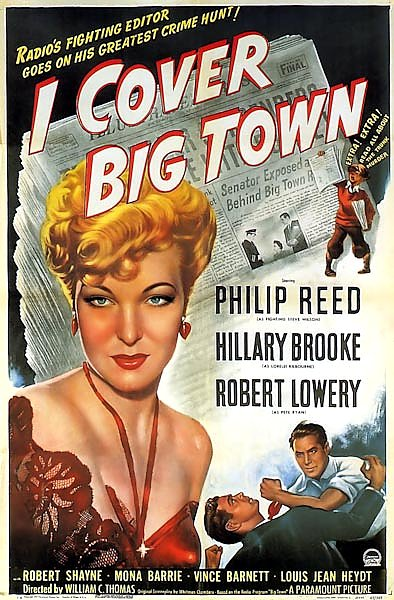 Film Noir Poster - I Cover Big Town