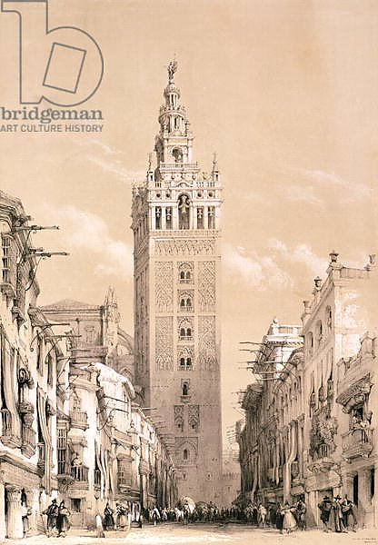 The Giralda, Seville, from 'Picturesque Sketches in Spain', c.1832-33