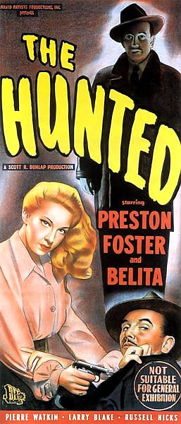 Film Noir Poster - Hunted, The